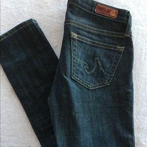 AG Adriano Goldschmied the Stilt dark denim jeans